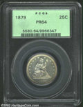 Proof Seated Quarters: , 1879 25C PR64 PCGS. A low mintage issue, this is a deeply ...