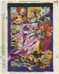 Original Comic Art:Miscellaneous, Mike Dubisch - Wolverine Graphic Novel, page 43 Color GuideProduction Art (Marvel, undated)....