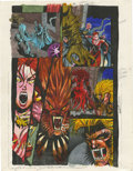 Original Comic Art:Miscellaneous, Mike Dubisch - Wolverine Graphic Novel, page 50 Color GuideProduction Art (Marvel, undated)....