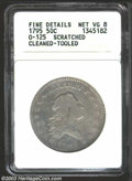 Early Half Dollars: , 1795 50C --Scratched, Cleaned, Tooled--ANACS. Fine Details, ...
