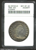 Early Half Dollars: , 1806 50C Pointed 6, Stem--Cleaned--ANACS. AU Details, Net ...