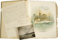"Military & Patriotic:Spanish American War, U.S.S. Maine Sinking Eye-Witness Account With Scrapbook. Autograph Document Signed, ""Chas. P. Howell Chief Enginee..."