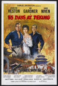 "Movie Posters:Adventure, 55 Days at Peking (Allied Artists, 1963). One Sheet (27"" X 41"").Adventure. Starring Charlton Heston, Ava Gardner, David Niv..."