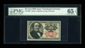 Fractional Currency:Fifth Issue, Fr. 1308 25c Fifth Issue PMG Gem Uncirculated 65 EPQ . This longkey variety is a touch scarcer than the thick key. Bright c...