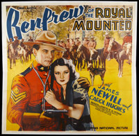 """Renfrew of the Royal Mounted (Grand National, 1937). Six Sheet (81"""" X 81""""). Action. Starring James Newill, Car..."""