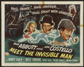 """Movie Posters:Comedy, Abbott and Costello Meet the Invisible Man (UniversalInternational, 1951). Half Sheet (22"""" X 28"""") Style A. Comedy...."""