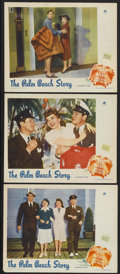 "Movie Posters:Comedy, The Palm Beach Story (Paramount, 1942). Lobby Cards (3) (11"" X14""). Comedy.... (Total: 3 Items)"