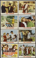 "Movie Posters:Sports, Big Leaguer (MGM, 1953). Lobby Card Set of 8 (11"" X 14""). Sports.... (Total: 8 Items)"