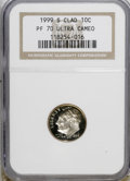 Proof Roosevelt Dimes: , 1999-S 10C Clad PR70 Deep Cameo NGC. . NGC Census: (352/0). PCGSPopulation (41/0). Numismedia Wsl. Price for NGC/PCGS coi...