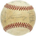 Autographs:Baseballs, 1979 Cleveland Indians Team Signed Baseball. The OAL (MacPhail)baseball hold the autographs of 19 members of the 1979 Clev...