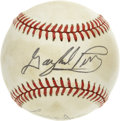 Autographs:Baseballs, Brooks Robinson/Jim Palmer & Gaylord Perry/Reggie JacksonSigned Baseball Lot of 2. Former teammates with the BaltimoreOri...