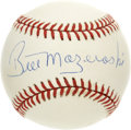Autographs:Baseballs, Al Oliver/Bill Mazeroski/Luis Tiant Single Signed Baseball Lot of3. Three former Pittsburgh Pirate players have added thei...