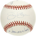 Autographs:Baseballs, Baltimore Orioles Pitchers Signed Baseball Jim Palmer. The 1971Baltimore Orioles fielded a great pitching staff. The OAL...