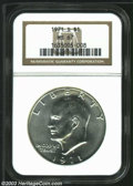 Eisenhower Dollars: , 1971-S $1 Silver MS67 NGC. Fully struck, highly lustrous,...