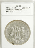 German States:Hamburg, German States: Hamburg. Free City 5 Mark 1913-J,...