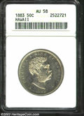 Coins of Hawaii: , 1883 50C Hawaii Half Dollar AU58 ANACS. Mildly reflective ...
