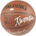 Basketball Collectibles:Balls, Boston Celtics Hall of Fame Multi-Signed Basketball. The SpaldingNBA basketball is graced with six signatures of Basketbal...