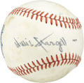 "Autographs:Baseballs, Willie Stargell Single Signed Baseball. ""Pops"" Stargell has addedhis signature on a side panel of this well-toned Official ..."