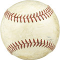 Autographs:Baseballs, 1965 Boston Red Sox Team Signed Baseball. Vintage team signed OAL(Cronin) baseball with 20+ signatures from the 1965 Bosto...
