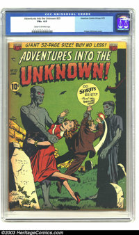 Adventures Into the Unknown #20 (ACG, 1951) CGC FN+ 6.5 Cream to off-white pages. Odgen Whitney cover art. Overstreet 20...