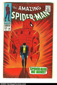 Amazing Spider-Man #50 (Marvel, 1967) Condition: VG-. John Romita, Sr. cover and art. First appearance Kingpin. Overstre...