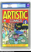 Bronze Age (1970-1979):Alternative/Underground, Artistic Comics #nn (Golden Gate, 1973) CGC NM+ 9.6 Off-white to white pages. Robert Crumb front and back cover art, plus in...