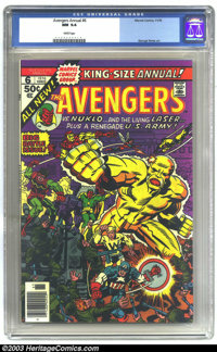 The Avengers Annual #6 (Marvel, 1976) CGC NM 9.4 White pages. George Perez art. Overstreet 2003 NM 9.4 value = $14. From...