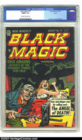 Golden Age (1938-1955):Horror, Black Magic #15 (Prize, 1952) CGC FN/VF 7.0 Off-white to whitepages. Jack Kirby and Joe Simon art. Overstreet 2003 FN 6.0 v...