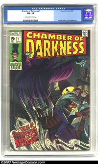 Chamber of Darkness #1 (Marvel, 1969) CGC NM- 9.2 Cream to off-white pages. John Romita Sr. cover. John Buscema art. Ove...