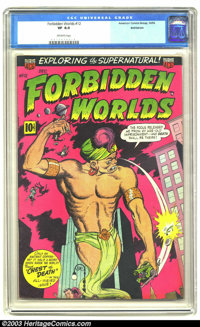 Forbidden Worlds #12 (ACG, 1952) CGC VF 8.0 Off-white pages. One of only five copies of this issue certified by CGC to d...