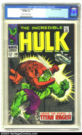 Silver Age (1956-1969):Superhero, The Incredible Hulk #106 (Marvel, 1968) CGC VF/NM 9.0 Cream to off-white pages. Herb Trimpe and George Tuska art. Overstreet...