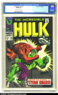 The Incredible Hulk #106 (Marvel, 1968) CGC VF/NM 9.0 Cream to off-white pages. Herb Trimpe and George Tuska art. Overst...