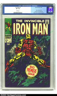 Iron Man #1 (Marvel, 1968) CGC VF- 7.5 White pages. Gene Colan cover and art. Origin story. Overstreet 2003 VF 8.0 value...