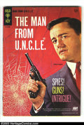 Silver Age (1956-1969):Adventure, Man from U.N.C.L.E. #1 (Gold Key, 1965) Condition: VG. Beautiful Robert Vaughn TV cover for the cult television show. Overst...