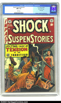 Shock SuspenStories #10 Gaines File pedigree (EC, 1953) CGC NM+ 9.6 White pages. Jack Kamen cover. Reed Crandall and Wal...
