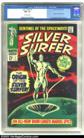 Silver Age (1956-1969):Superhero, The Silver Surfer #1 (Marvel, 1968) CGC NM- 9.2 Off-white pages. John Buscema and Gene Colan art. Origin issue. Overstreet 2...