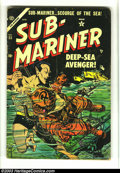 Golden Age (1938-1955):Superhero, Sub-Mariner Comics #33 (Timely, 1954) Condition: VG-. Origin Sub-Mariner and Human Torch appearance. Namora crossover. Here ...
