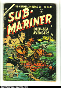 Sub-Mariner Comics #33 (Timely, 1954) Condition: VG-. Origin Sub-Mariner and Human Torch appearance. Namora crossover. H...