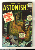 Silver Age (1956-1969):Horror, Tales to Astonish #11 (Marvel, 1960) Condition: VG+. Pre-superherohorror tales by Jack Kirby and Steve Ditko. Overstreet 20...