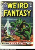 Golden Age (1938-1955):Horror, Weird Fantasy #15 (#3) (EC, 1950) Condition: VG/FN. Al Feldsteincover. This book has two large creases that don't break the...