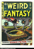 Golden Age (1938-1955):Science Fiction, Weird Fantasy #11 (EC, 1952) Condition: VG/FN. Al Feldstein cover.This book has two small tape lifts on the lower right han...