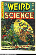 Golden Age (1938-1955):Science Fiction, Weird Science #9 (EC, 1951) Condition: FN-. Here is an absolutelybeautiful Science Fiction EC with a classic Wally Wood cov...