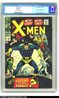X-Men #39 (Marvel, 1967) CGC VF- 7.5 Off-white to white pages. X-Men in new costume. George Tuska cover. Don Heck art. C...