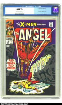 X-Men #44 (Marvel, 1968) CGC VF/NM 9.0 Off-white to white pages. First Silver Age Red Raven. Don Heck cover. George Tusk...