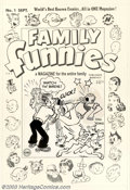 Original Comic Art:Covers, Al Avison (attributed) - Original Cover Art for Family Funnies #1(Harvey, 1950 We have no idea why Dagwood feels the need t...