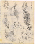 Original Comic Art:Sketches, Robert Crumb - Original Sketches (1962). This wonderful, seldom seen sketch page by Robert Crumb, features an early prototyp...