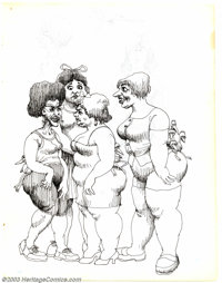 Robert Crumb - Original Sketches (undated, early '60s). Can we talk? This sketch page, pulled directly from one of Rober...
