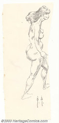 Original Comic Art:Sketches, Frank Frazetta - Original Sketch, Nude Woman (undated). A master of anatomy, Frank Frazetta knows a thing or two about physi...