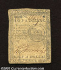 Colonial Notes:Continental Congress Issues, February 17, 1776, $1/2, Continental Congress Issue, CC-21, VF....