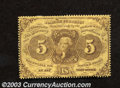 Fractional Currency:First Issue, First Issue 5c, Fr-1228, VF. This perforated note with ...